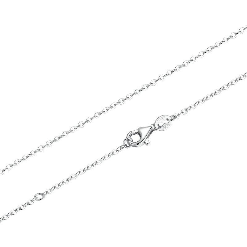 Valentina 100% Sterling Silver 925 Lobster Clasp Adjustable Chain Necklace-Chain Necklaces-Kirijewels.com-silver SCA010-Kirijewels.com