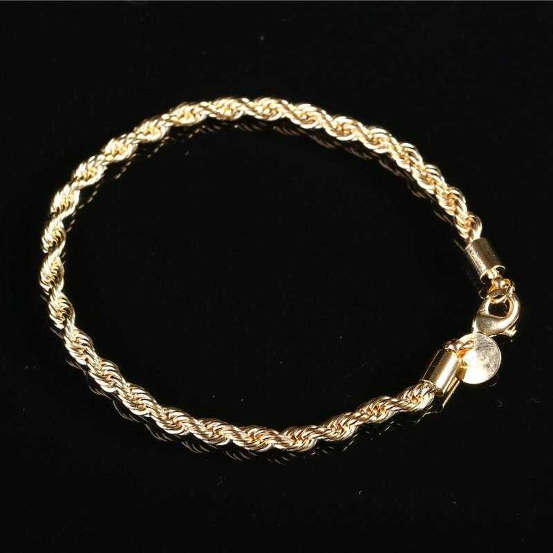 Free Sterling Silver Twisted Chain Bracelet-Bracelet-Kirijewels.com-gold 2-Kirijewels.com