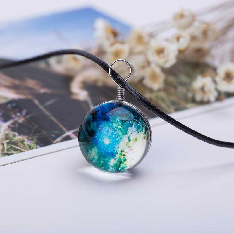 Planet Galaxy Necklace-Pendant Necklaces-Kirijewels.com-Milky Way-Kirijewels.com