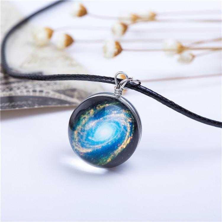 Planet Galaxy Necklace-Pendant Necklaces-Kirijewels.com-Blue Galaxy-Kirijewels.com