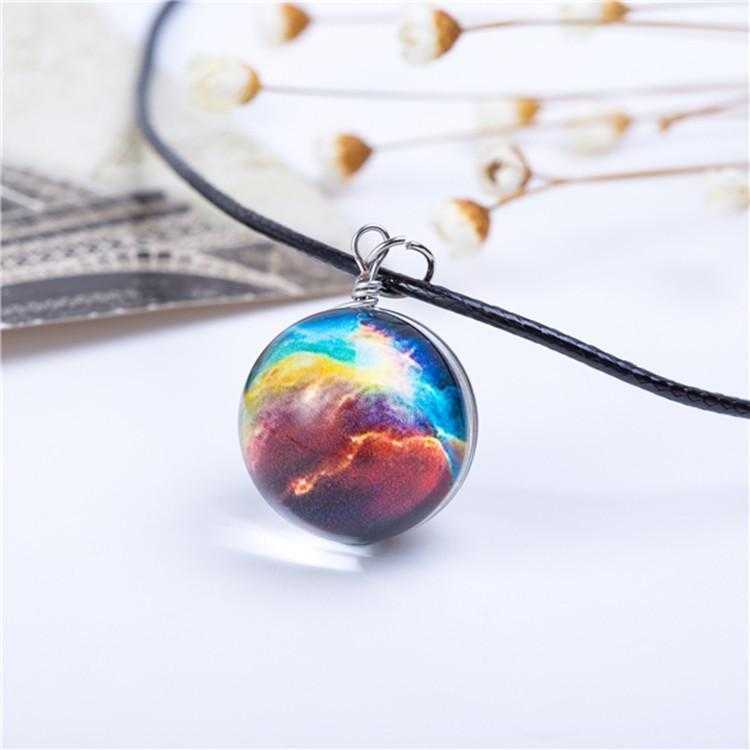 Planet Galaxy Necklace-Pendant Necklaces-Kirijewels.com-Multi-Kirijewels.com