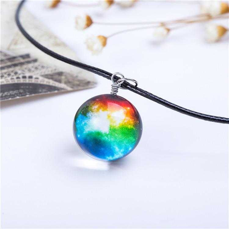 Planet Galaxy Necklace-Pendant Necklaces-Kirijewels.com-Multi Milki Way-Kirijewels.com