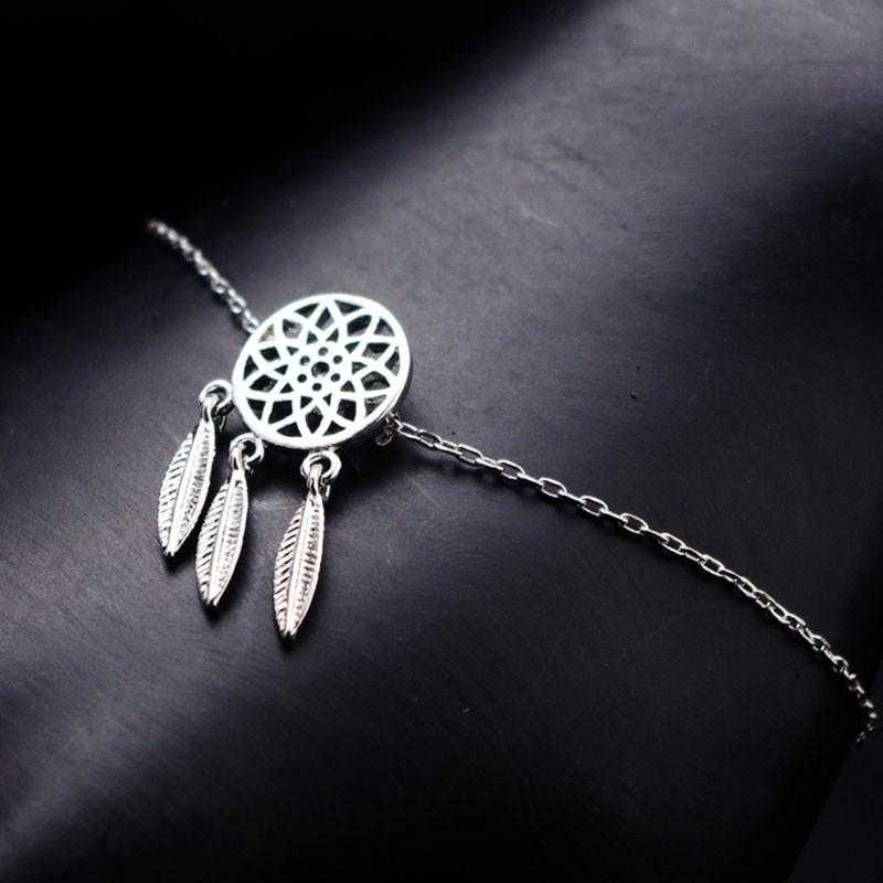 Free Dreamcatcher Feather Bracelet-Charm Bracelets-Kirijewels.com-Gold Necklace-Kirijewels.com