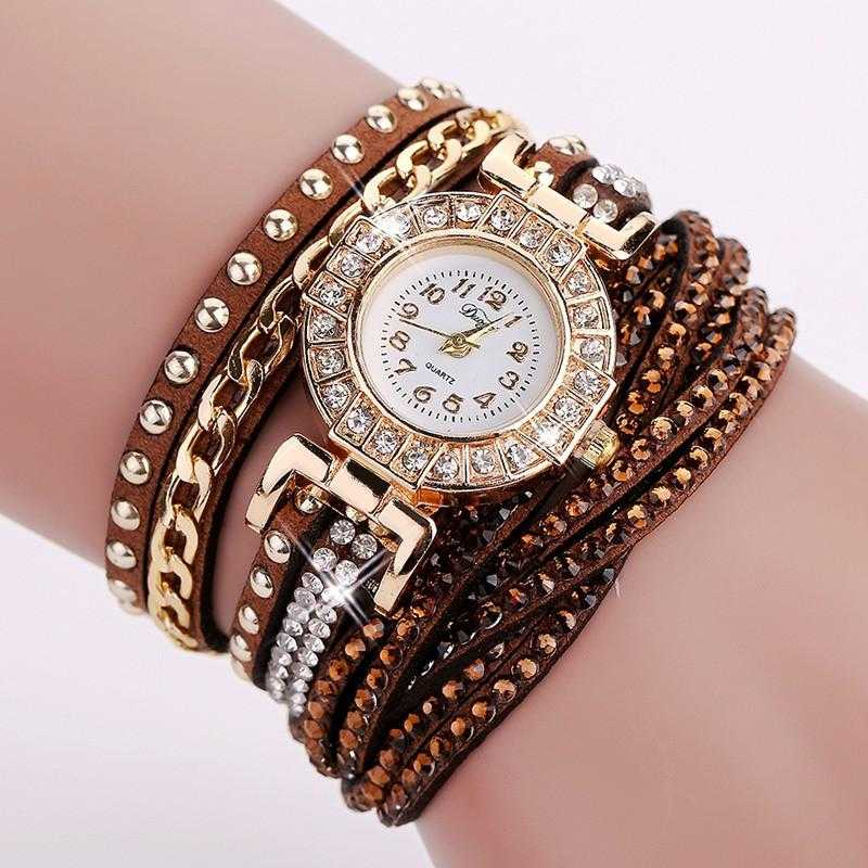 FREE Colourful Bracelet Wrist Watch-Watch-Kirijewels.com-001 Brown-Kirijewels.com