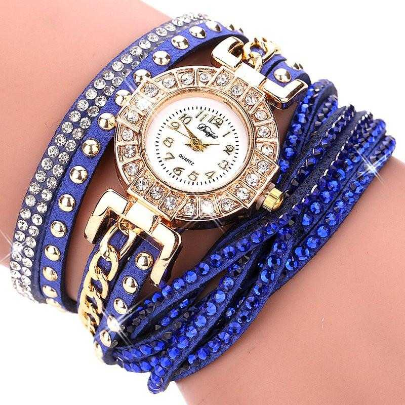 FREE Colourful Bracelet Wrist Watch-Watch-Kirijewels.com-001 Blue-Kirijewels.com