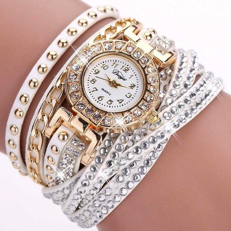 FREE Colourful Bracelet Wrist Watch-Watch-Kirijewels.com-001 White-Kirijewels.com