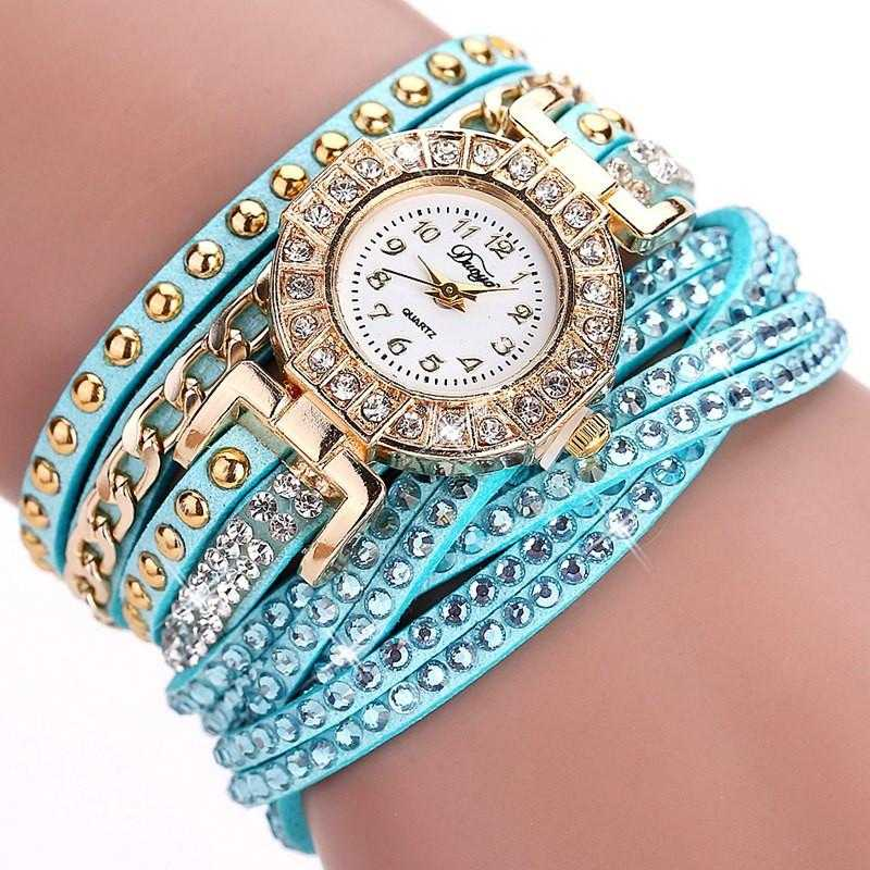 FREE Colourful Bracelet Wrist Watch-Watch-Kirijewels.com-001 Mint Green-Kirijewels.com