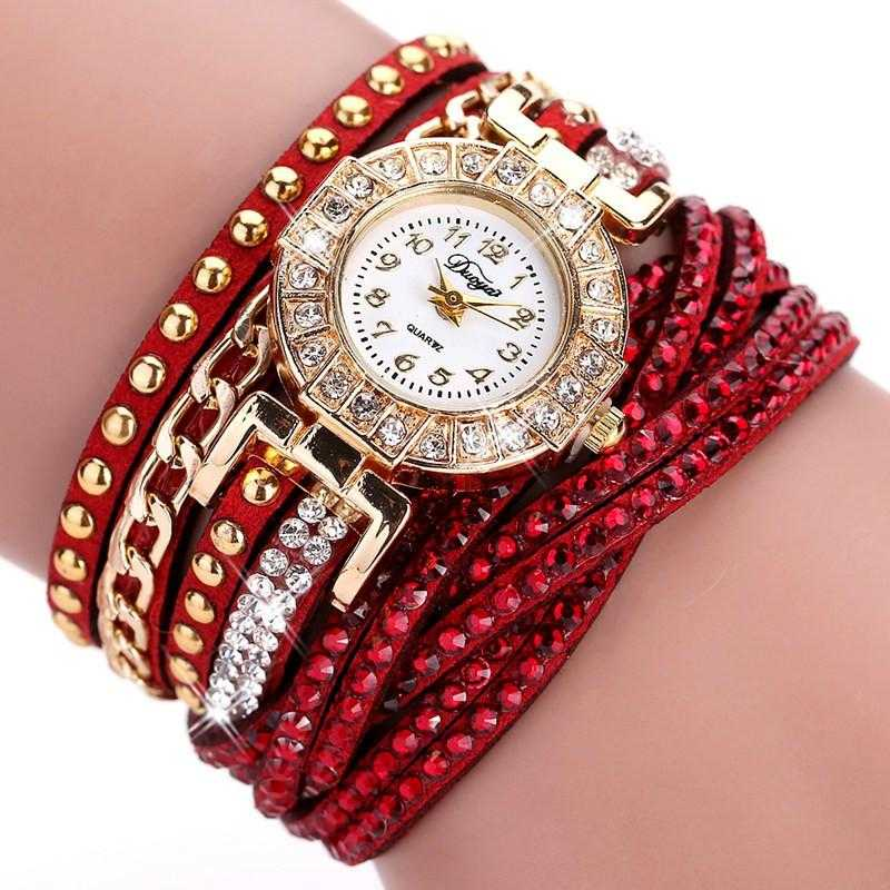 FREE Colourful Bracelet Wrist Watch-Watch-Kirijewels.com-001 Red-Kirijewels.com