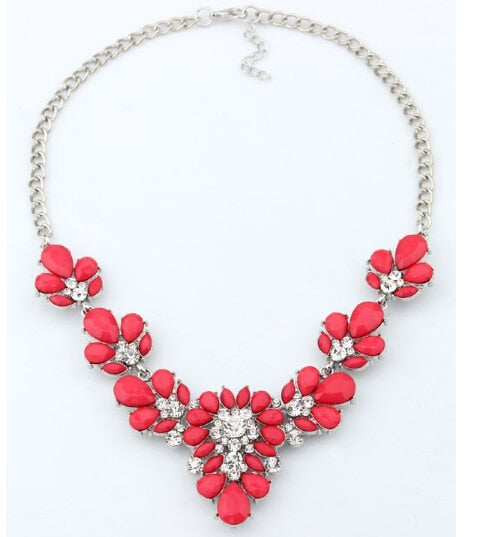 Colorful Flower Beaded Necklace
