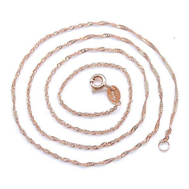 Free Gold Plated Water Wave Ripples Chain Necklace-Chain Necklaces-Kirijewels.com-18K Gold Plated-Kirijewels.com