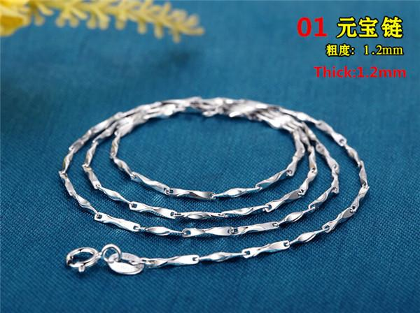 New Elegant Sterling Silver 925 Snake Chain Necklace-Necklaces & Pendants-Kirijewels.com-01-Silver-Kirijewels.com