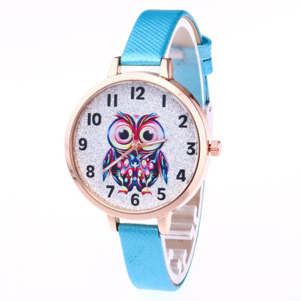 FREE Leather Strap Owl Watch-Women's Watches-Kirijewels.com-Sky Blue-Kirijewels.com