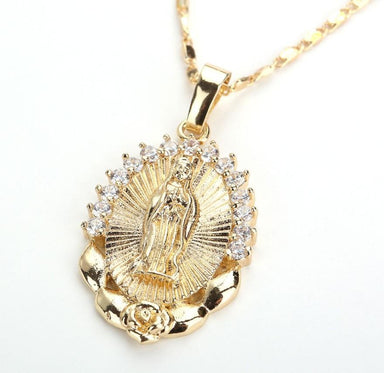Holy Virgin Mary Pendant Necklace - Kirijewels.com