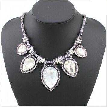 Free Luxury Shining Charm Crystal Necklace-Choker Necklaces-Kirijewels.com-White-Kirijewels.com
