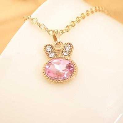 Free Rabbit Necklace-Necklace-Kirijewels.com-Pink-Kirijewels.com
