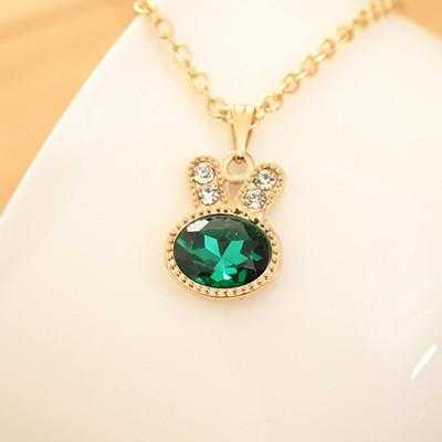 Free Rabbit Necklace-Necklace-Kirijewels.com-Green-Kirijewels.com