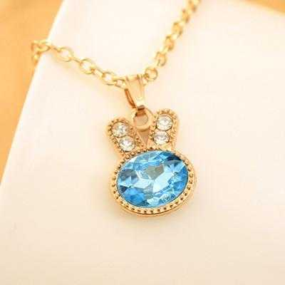 Free Rabbit Necklace-Necklace-Kirijewels.com-Blue-Kirijewels.com