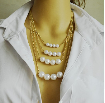 Free Multi Layer Summer Style Necklace-Kirijewels.com-Pearl-Kirijewels.com