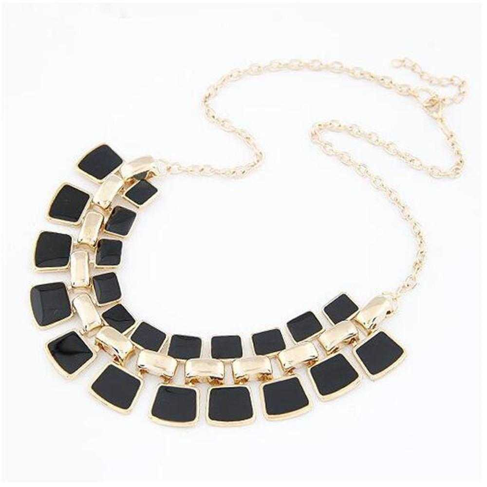 Chain Collar Necklace-Necklace-Kirijewels.com-Black-Kirijewels.com
