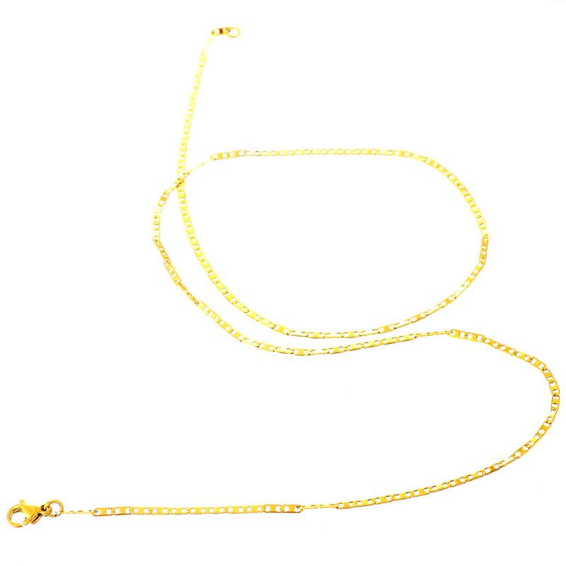 LASPERAL Stainless Steel Chain Necklace-Chain Necklaces-Kirijewels.com-50cm x 1.9mm-gold-Kirijewels.com
