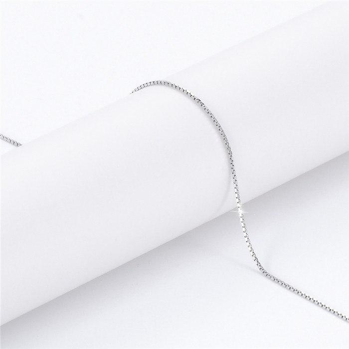 Dream 100% 925 Sterling Silver Lobster Clasp Chain Necklace-Chain Necklaces-Kirijewels.com-T030021-silver-Kirijewels.com