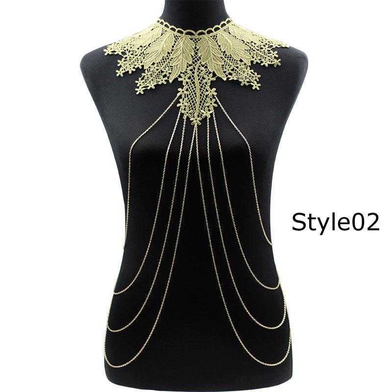 Free Lace Flower Necklace-Necklace-Kirijewels.com-gold 2-Kirijewels.com
