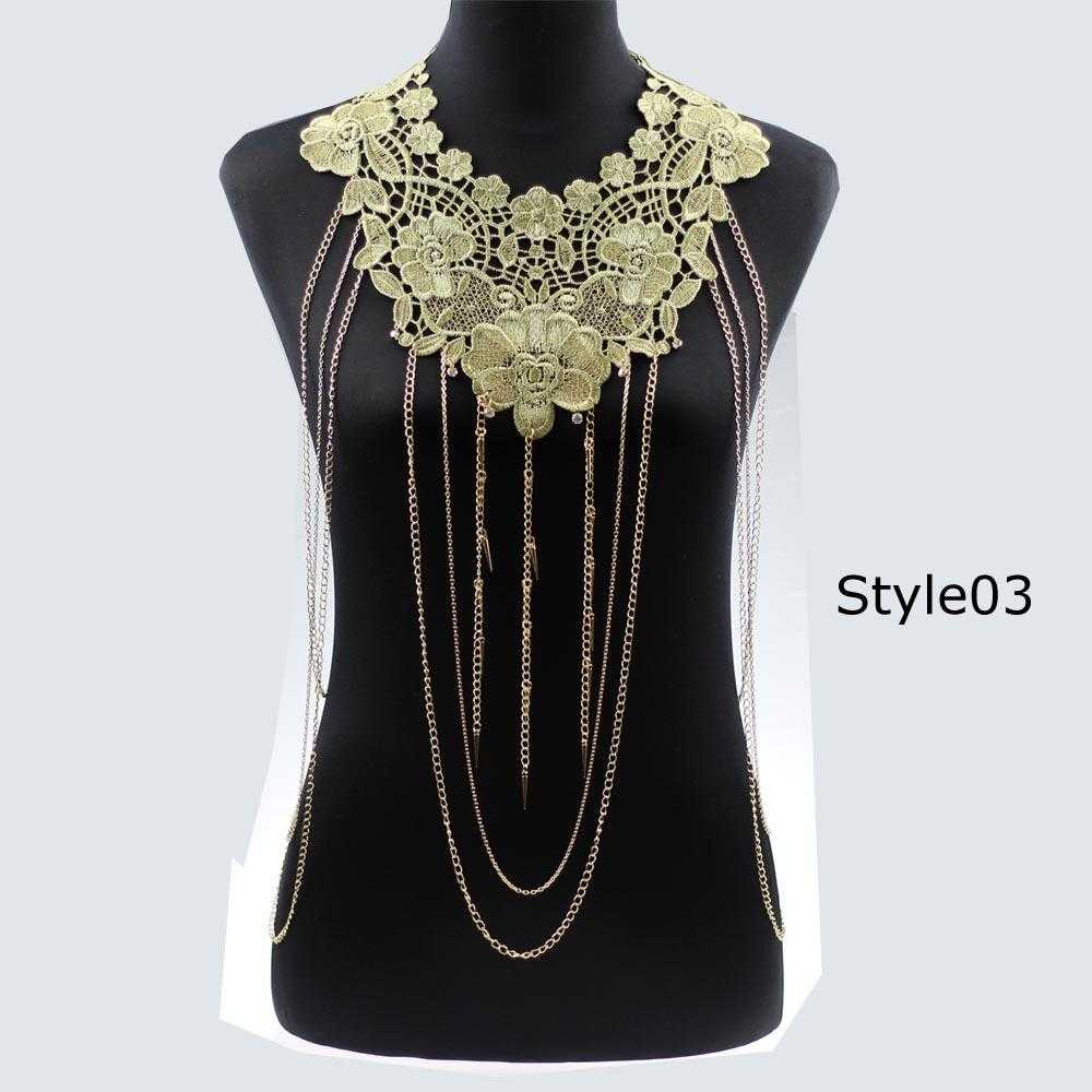 Free Lace Flower Necklace-Necklace-Kirijewels.com-gold 3-Kirijewels.com
