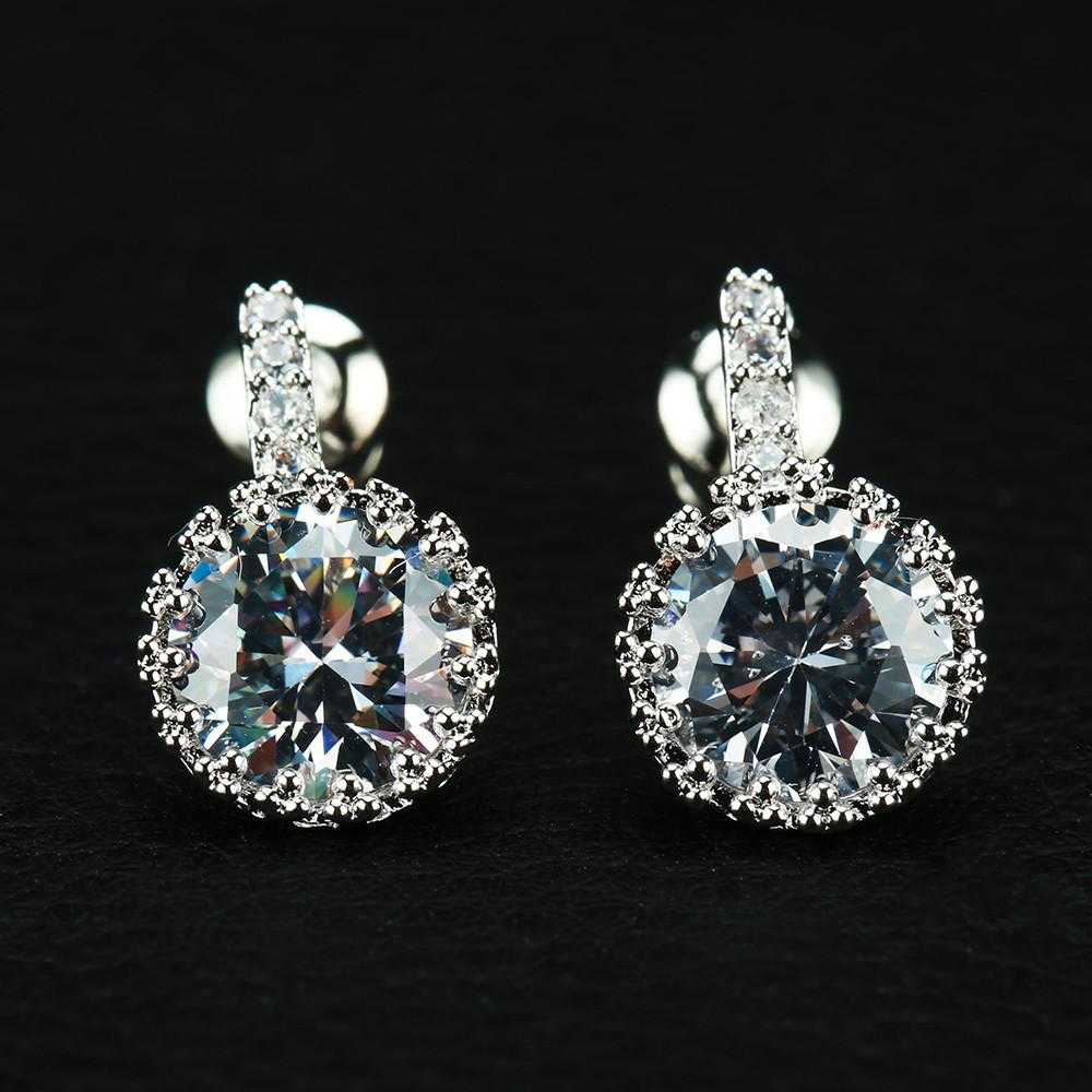 Loway Earrings-earrings-Kirijewels.com-Platinum Plated-Kirijewels.com