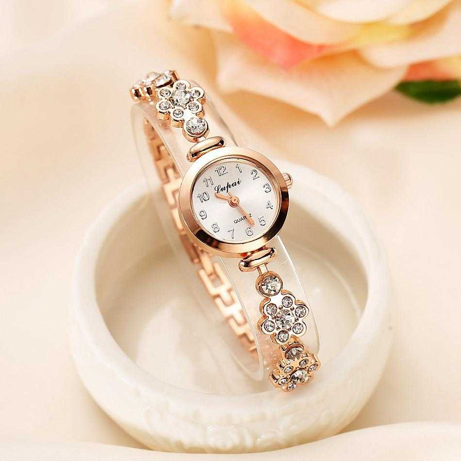 Round Quartz Analog Bracelet Wristwatch-Watch-Kirijewels.com-Gold 717-Kirijewels.com