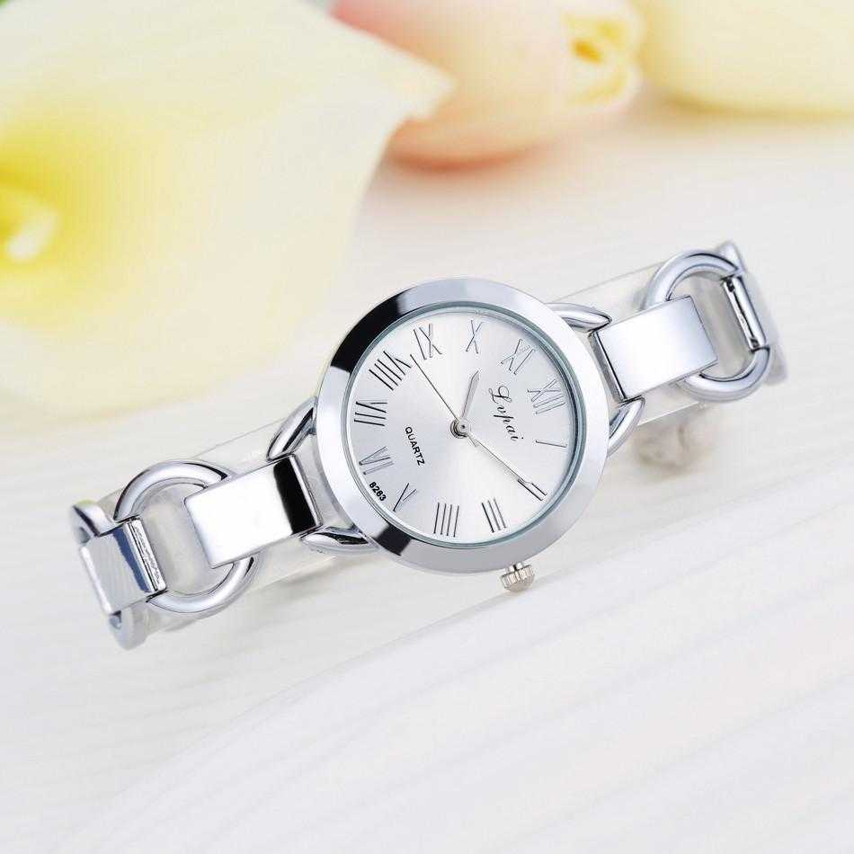 Lvpai Stainless Steel Crystal Round Wristwatch-Women's Watches-Kirijewels.com-Silver White-Kirijewels.com