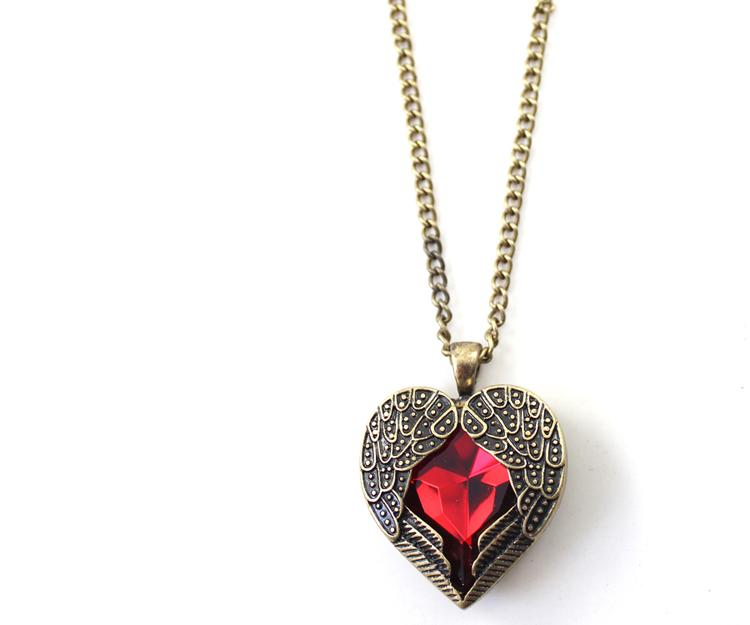 Angel Wing Heart Necklace - Kirijewels.com