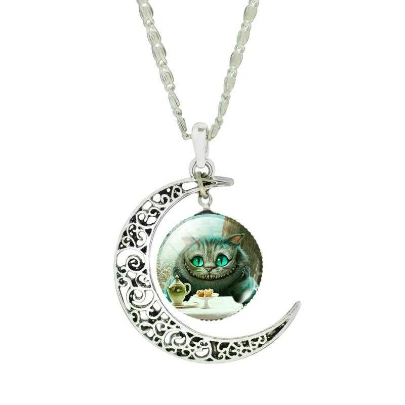 Free Moon Cat Necklace-Necklace-Kirijewels.com-IB2396-Kirijewels.com