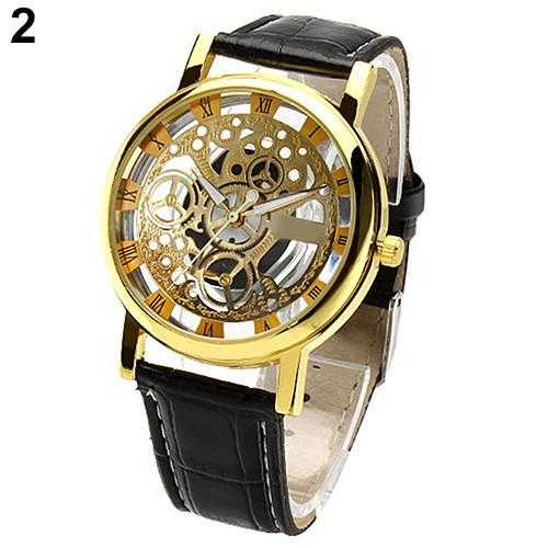 Skeleton Sports Dress Wrist Watch-Watch-Kirijewels.com-Black S Golden D-Kirijewels.com