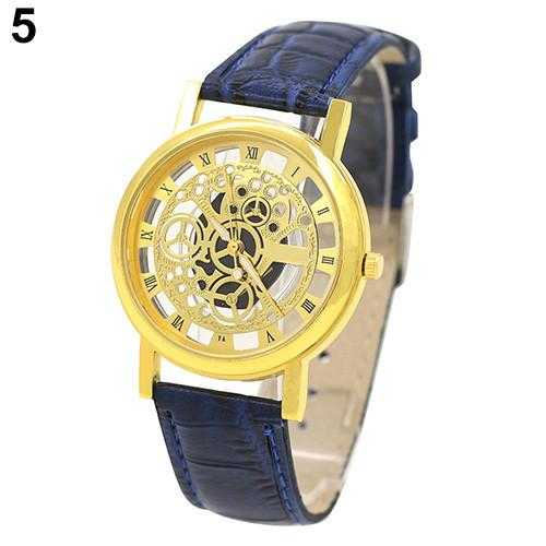 Skeleton Sports Dress Wrist Watch-Watch-Kirijewels.com-Blue S Golden D-Kirijewels.com