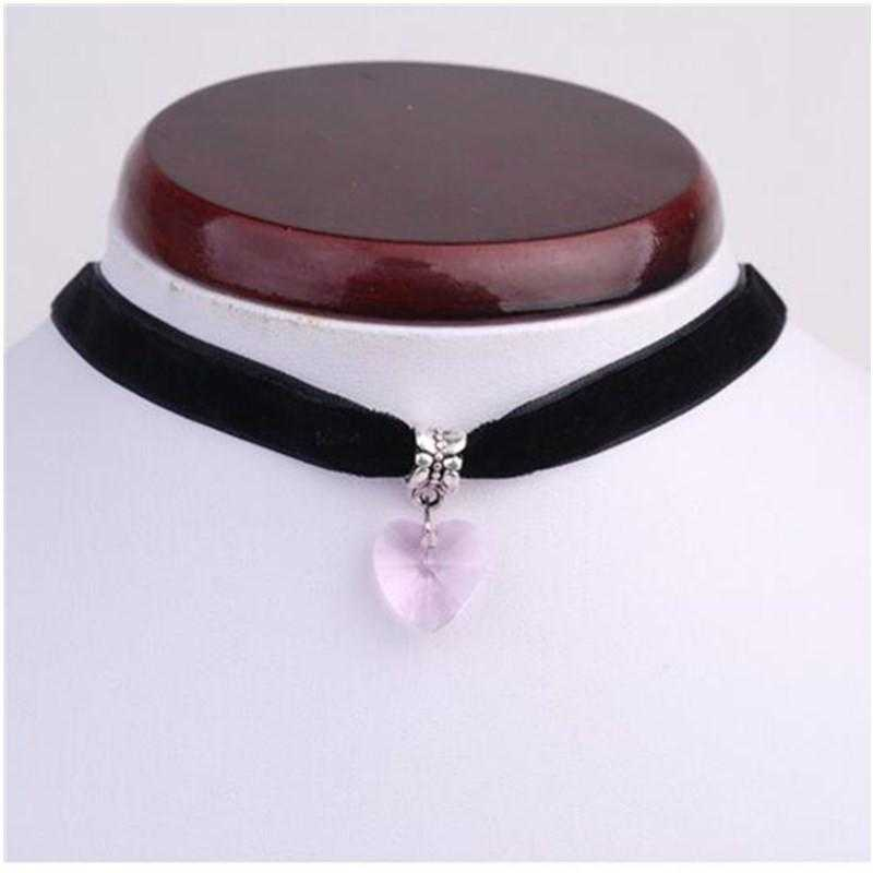 Free Crystal Heart Rope Necklace-Necklace-Kirijewels.com-pink-Kirijewels.com