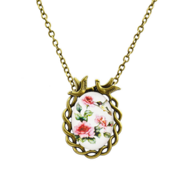 Free Oval Flower Necklace-Necklace-Kirijewels.com-S1-Kirijewels.com