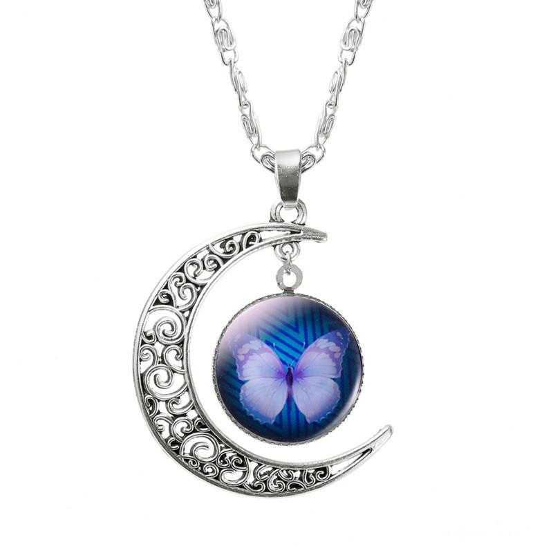 FREE Moon Butterfly Necklace-Necklace-Kirijewels.com-Rose Gold Color-Kirijewels.com