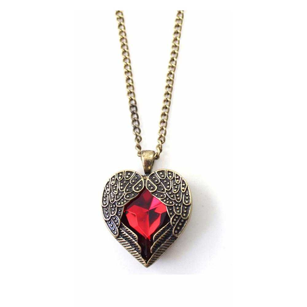 Free angel heart wing necklace mozeypictures Choice Image