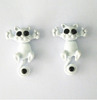 Free Cat Stud Earrings-earrings-Kirijewels.com-White-Kirijewels.com