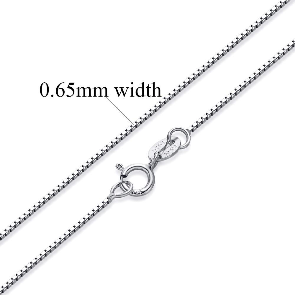 Authentic Sterling Silver Box Chain Necklace-Chain Necklaces-Kirijewels.com-Platinum-40cm 16inch-Kirijewels.com