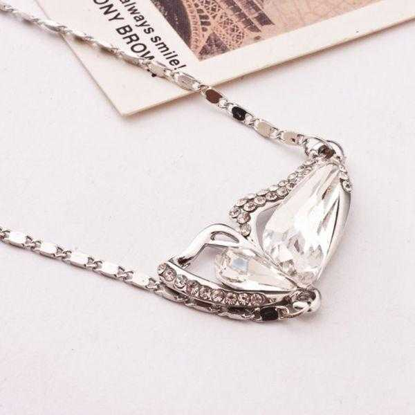 Free Crystal Butterfly Necklace-Necklace-Kirijewels.com-A White-40cm-Kirijewels.com
