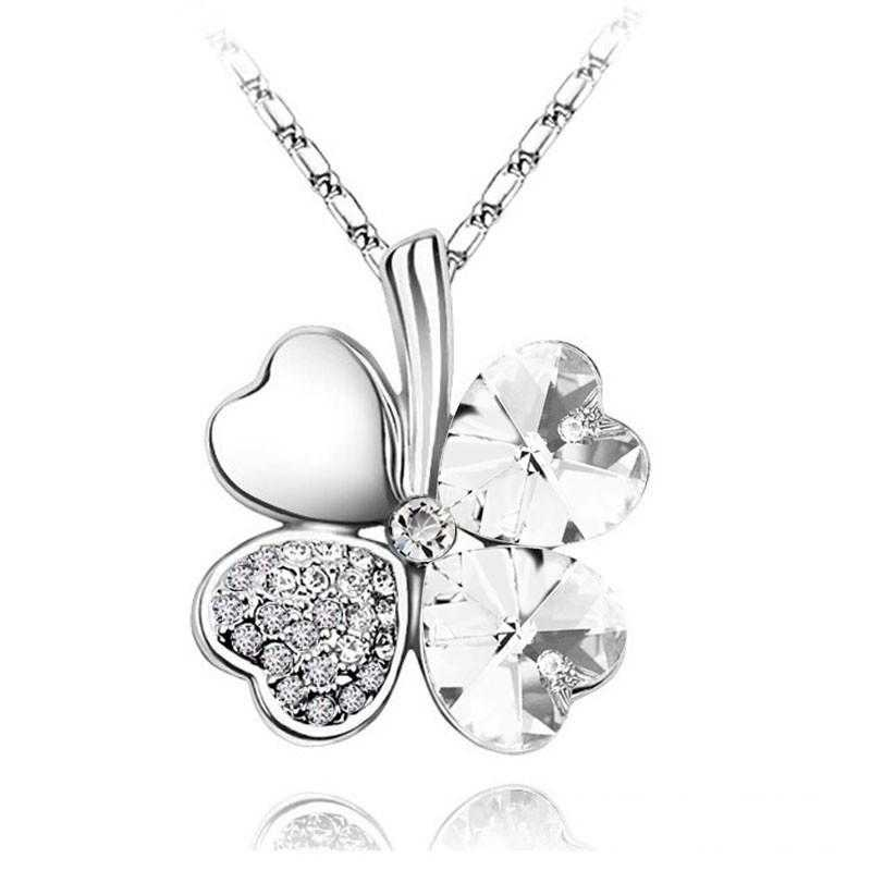 Four Hearts Necklace-Necklace-Kirijewels.com-silver white-Kirijewels.com