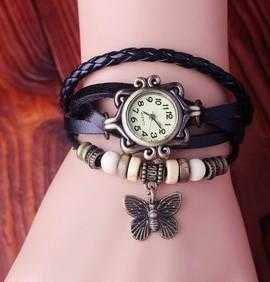 Butterfly Cow Leather Watch/2-Women's Watches-Kirijewels.com-Brown-Kirijewels.com