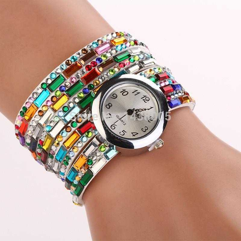 Rhinestone Wrap Quartz Watch-Watch-Kirijewels.com-multi1-Kirijewels.com