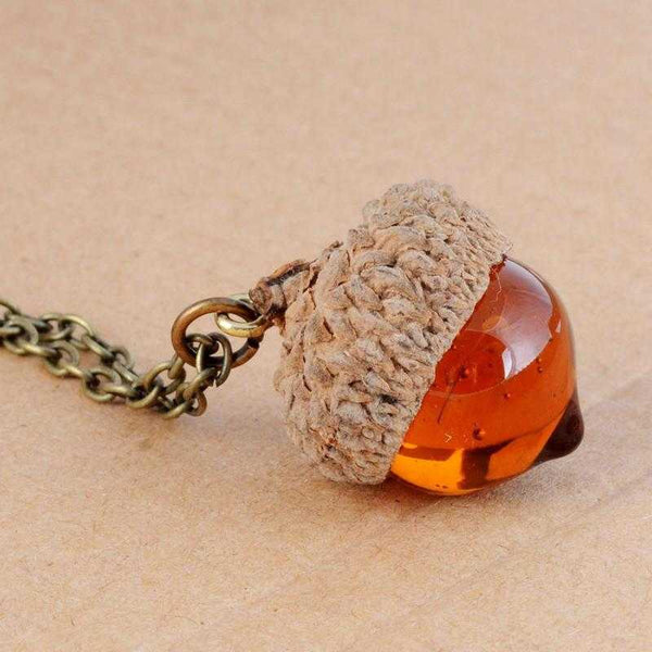 Acorn Necklace-Necklace-Kirijewels.com-Golden-Kirijewels.com