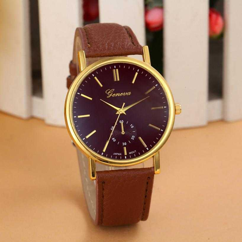 New Unisex Leather Band Analog WristWatch-Watch-Kirijewels.com-Brown-Kirijewels.com