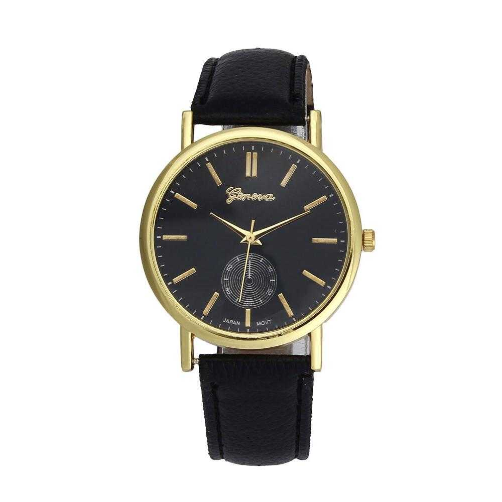 New Unisex Leather Band Analog WristWatch-Watch-Kirijewels.com-Black-Kirijewels.com