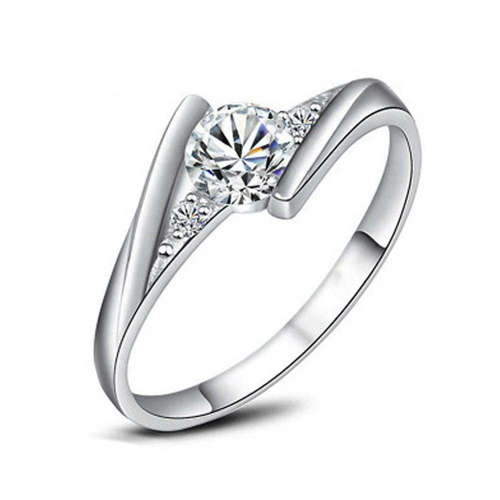 Free Anillos Sterling Silver Engagement Ring-Rings-Kirijewels.com-6-Rose Gold Plated-Kirijewels.com