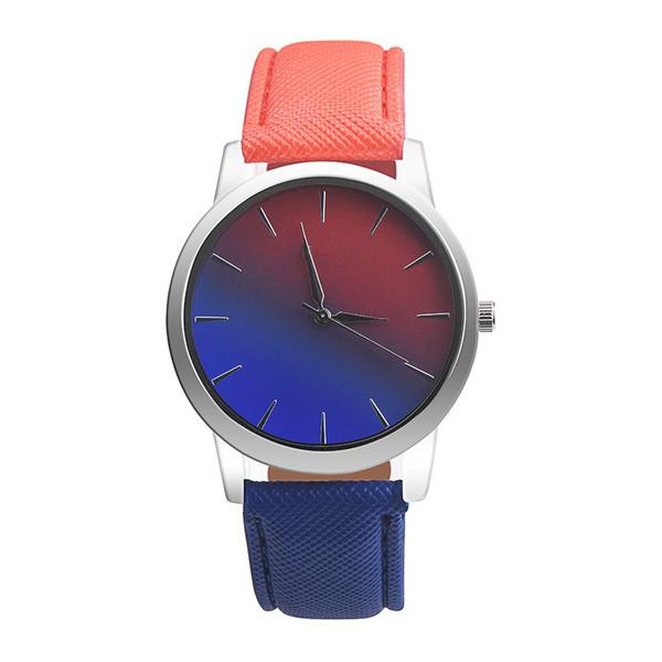 Leather Band Rainbow Wrist Watch-Women's Watches-Kirijewels.com-red & blue-Kirijewels.com