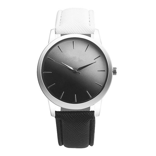 Leather Band Rainbow Wrist Watch-Women's Watches-Kirijewels.com-black & white-Kirijewels.com
